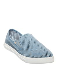 Steve Madden | Blue Virggo Perforated Flats | Lyst