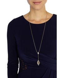 Coast | Metallic Evelyn Droplet Necklace | Lyst