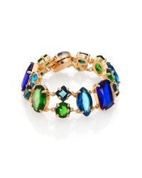 ABS By Allen Schwartz | Metallic Mixed Jewel Bracelet | Lyst