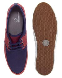 Fred Perry - Red Tonic Plimsolls for Men - Lyst