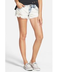 Volcom Blue 'yae' Cutoff Denim Shorts