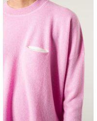 DEMYLEE - Pink Chest Pocket Sweater - Lyst