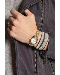 Michael Kors - Metallic Mini Lexington Goldtone Stainless Steel Watch - Lyst