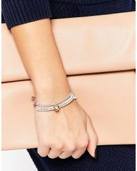 Estella Bartlett | Mini Anna Pink And Liberty Grey Bracelets | Lyst