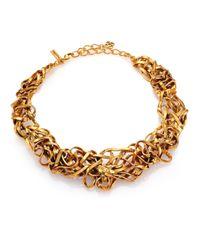 Oscar de la Renta | Metallic Ribbon Collar Necklace | Lyst