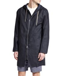 YMC - Blue Coach Jacket for Men - Lyst