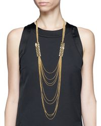 Ela Stone - Metallic Gwen Pyramid Multi-chain Necklace - Lyst