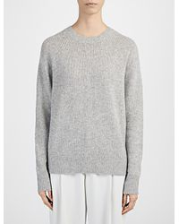 JOSEPH | Gray Spring Cashmere Sweater | Lyst