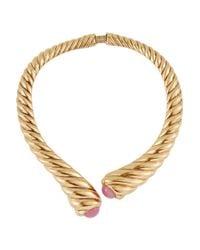 Oscar de la Renta | Metallic Gold-Plated And Resin Necklace | Lyst