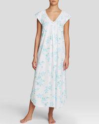 Carole Hochman - Blue Graphite Flowers Long Gown - Lyst