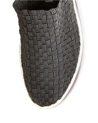 Steven by Steve Madden | Black Signale Woven Platform Sneakers | Lyst