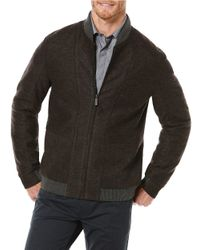 Perry Ellis | Brown Wool Blend Bomber Jacket for Men | Lyst