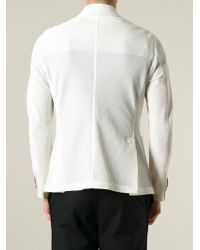 Giorgio Armani | White Pique Blazer for Men | Lyst