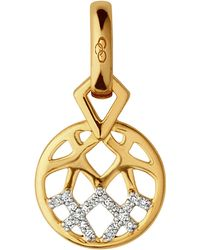 Links of London - Metallic Timeless Gold 18ct Yellow-gold And Diamond Charm - Lyst