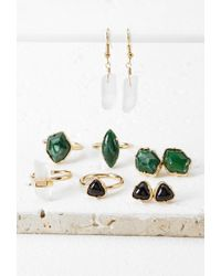 Forever 21 | Metallic Faux Stone Jewelry Set | Lyst