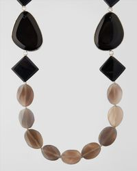 Jaeger - Gray Semi Precious Beaded Necklace - Lyst