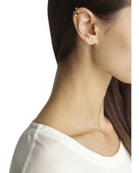 MFP MariaFrancescaPepe | Metallic 23Kt Gold Plated Swarovski Ear Cuff | Lyst
