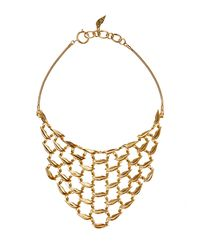 Diane von Furstenberg | Metallic Gold-plated Lips Necklace | Lyst
