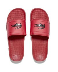 3be1620954243 Lacoste Men s Frasier Slide Sandals in Red for Men - Lyst