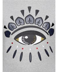 KENZO - Gray Eye Embroidered Sweatshirt - Lyst