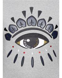 KENZO | Gray Eye Embroidered Sweatshirt | Lyst