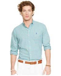 Polo Ralph Lauren - Green Plaid Poplin Shirt for Men - Lyst