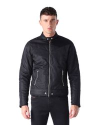 DIESEL | Black J-red Satin Bomber Jacket for Men | Lyst