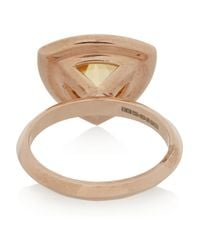 Katie Rowland - Pink Circe Trillion Rose Gold-tone Ring - Lyst