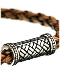 Seven London | Brown Rattan Bracelet for Men | Lyst