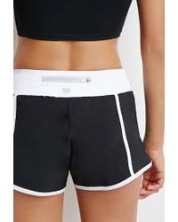 Forever 21 | Black Colorblock Woven Running Shorts | Lyst