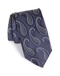 John W. Nordstrom | Blue 'cortese' Paisley Silk Tie for Men | Lyst