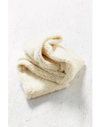 Urban Outfitters - White Sherpa Eternity Scarf - Lyst