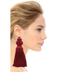 Vanessa Mooney - Red The Broadway Earrings - Burgundy - Lyst