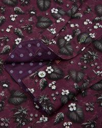 Ted Baker | Purple Noface Floral Print Sport Shirt - Regular Fit for Men | Lyst