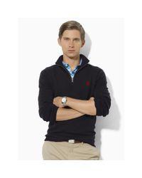 Ralph Lauren - Black Merino Wool Full-zip Sweater for Men - Lyst