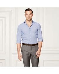 Ralph Lauren Purple Label | Blue Aston Gingham Cotton Shirt for Men | Lyst