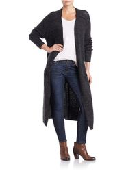 Free People | Black Santa Cruz Long Cardigan | Lyst