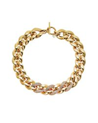 MICHAEL Michael Kors | Metallic Golden Chain Toggle Necklace | Lyst
