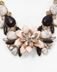 kate spade new york | Multicolor Glossy Petals Statement Necklace, 28"