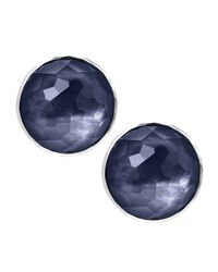 Ippolita | Blue Wonderland Faceted Button Stud Earrings | Lyst