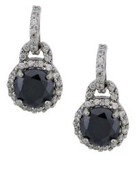 Lord & Taylor | Metallic Crystal Drop Earrings | Lyst