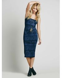 Free People | Blue Farrah Exclusive Spaghetti Dress | Lyst