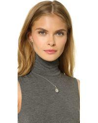 Monica Rich Kosann - Metallic Petite Sunburst Locket Necklace - Silver - Lyst