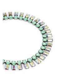 J.Crew | Green Iridescent Bar Necklace | Lyst