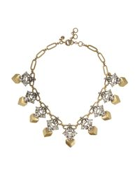 J.Crew - Metallic Goldtone Crystal Necklace - Lyst