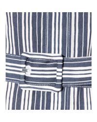 A.P.C. - Blue Striped Cotton Shirt Dress - Lyst