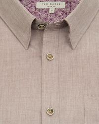 Ted Baker | Brown Soft Oxford Shirt for Men | Lyst