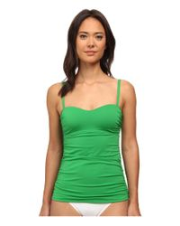 Tommy Bahama | Green Pearl Over The Shoulder Long Tankini Top | Lyst