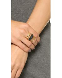 Alexis Bittar | Metallic Orbital Ring - Black | Lyst