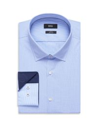 BOSS - Blue 'joey' | Slim Fit, Cotton Easy Iron Dress Shirt for Men - Lyst
